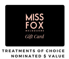 MISS FOX Gift Cards: Nominated $ Value