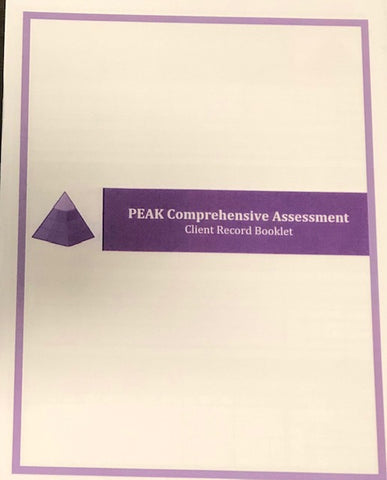PEAK PCA Client Record Booklets (Additional 10 Pack)