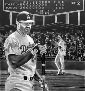 Gibby (Kirk Gibson) '88 World Series - Wood