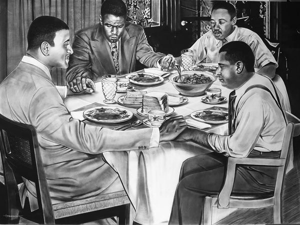 Grace (Martin Luther King Jr, Jackie Robinson, Don Newcombe, Roy Campanella) Print - Canvas