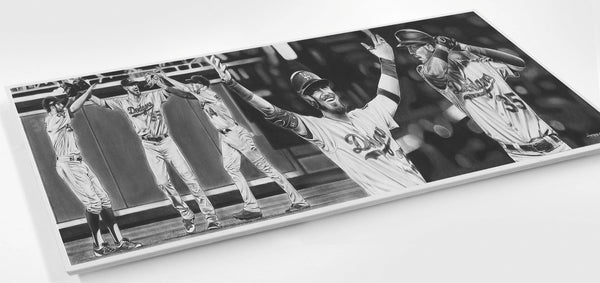 Grace (Martin Luther King Jr, Jackie Robinson, Don Newcombe, Roy Campanella) Print - Wood
