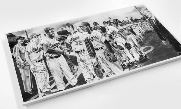 The All-Time Dodgers 2nd Base Jackie Robinson Wood Print