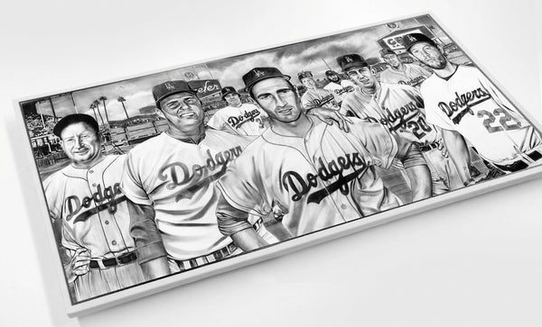 The All-Time Dodgers Pitchers Koufax Kershaw Wood Print