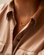 "Load image into Gallery viewer, 14k Yellow Gold ""K"" Necklace"