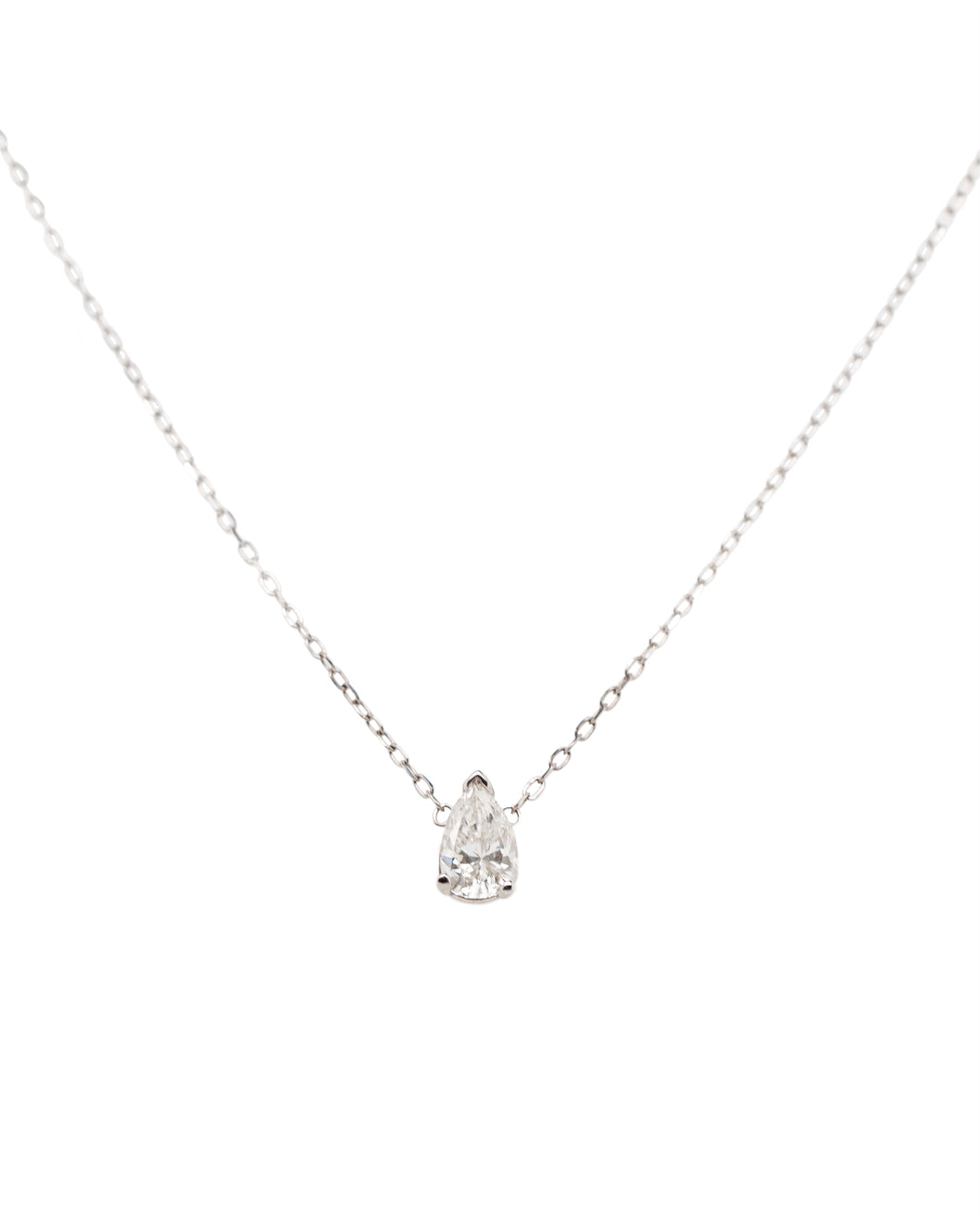 Pear Diamond Solitaire Necklace
