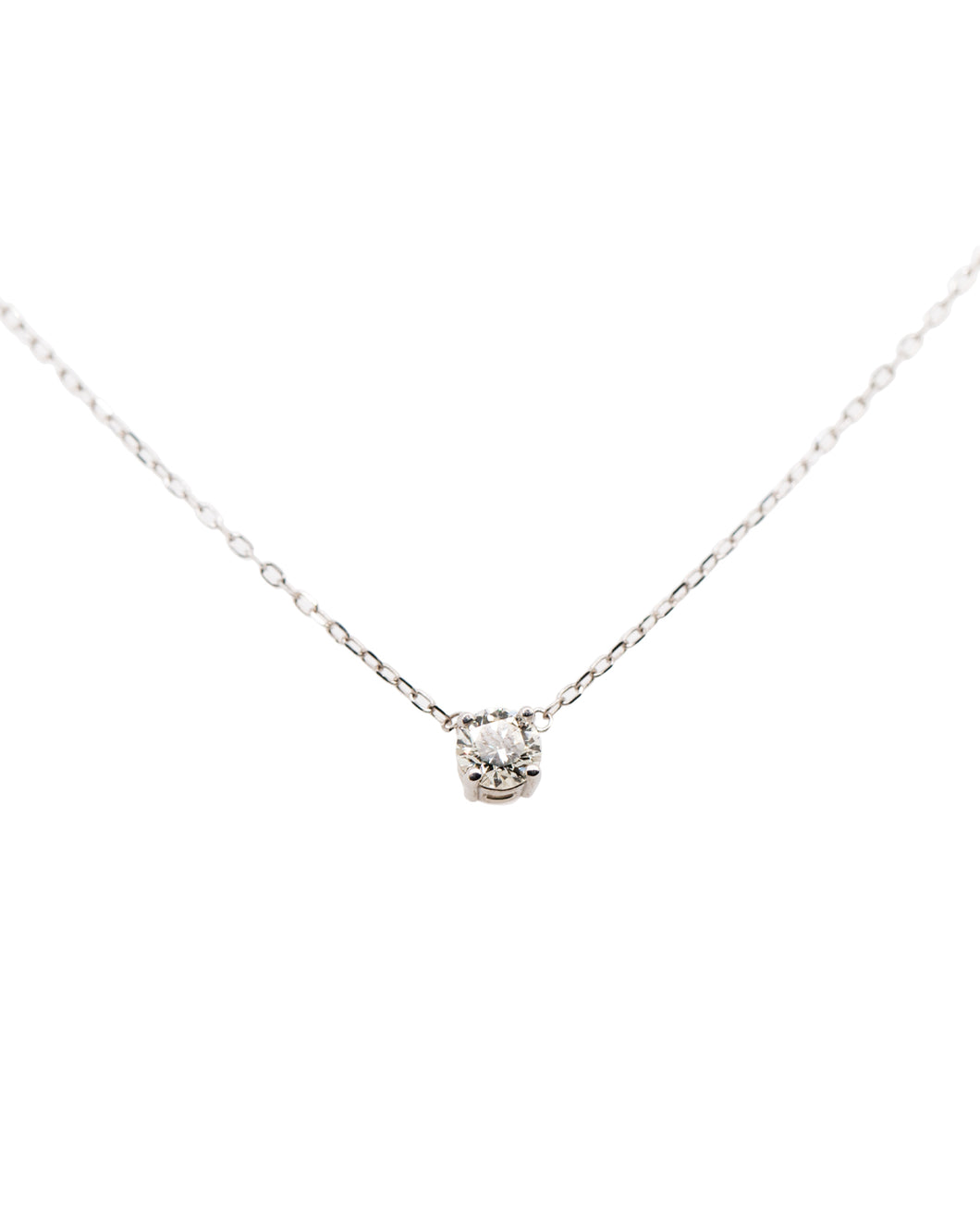 Round Diamond Solitaire Necklace