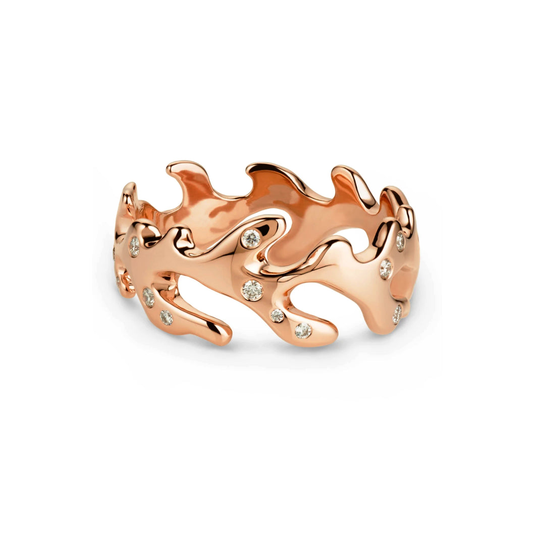 18k Rose Gold Reef Ring - Size 7