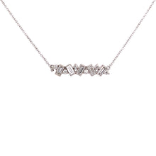 "Load image into Gallery viewer, Mixed Baguette & Round Diamond ""Bar"" Necklace"