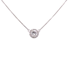 Load image into Gallery viewer, Round Brilliant Diamond Halo Necklace