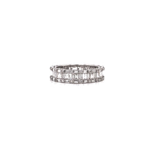 "Load image into Gallery viewer, Round & Baguette Diamond ""Cluster"" Eternity Band"