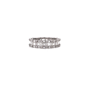 "Round & Baguette Diamond ""Cluster"" Eternity Band"
