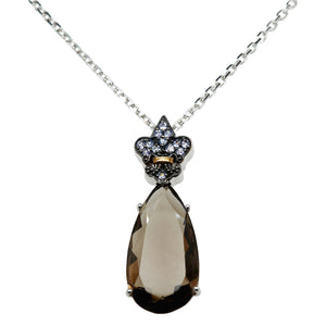 SS Tanzanite & Smokey Quartz Necklace