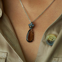 Load image into Gallery viewer, SS Tanzanite & Smokey Quartz Necklace