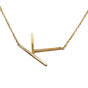 "14k Yellow Gold ""K"" Necklace"