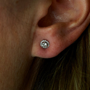 "14k White Gold ""Margarita"" Ear Studs"