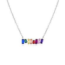 Load image into Gallery viewer, Rainbow Connection Scattered Bar Necklace