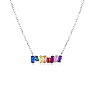 Rainbow Connection Scattered Bar Necklace