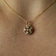 Load image into Gallery viewer, 14k Yellow Gold Vintage Diamond Pendant