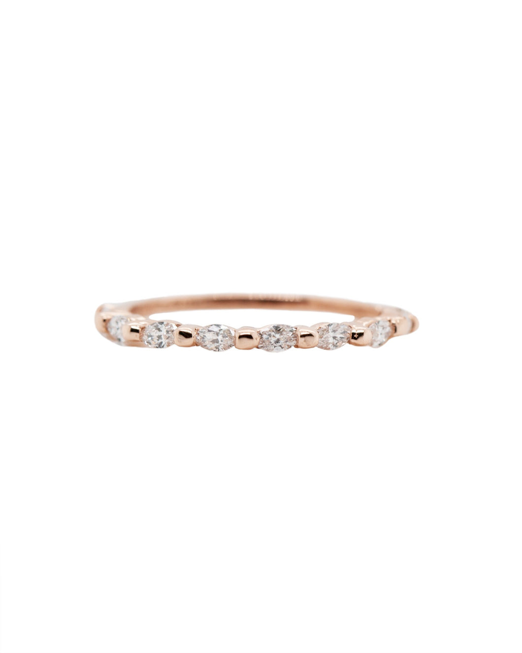 14k Rose Gold Marquis Diamond Band
