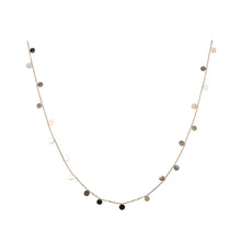 Load image into Gallery viewer, Petite Gold Disk Station Necklace, 18 inches