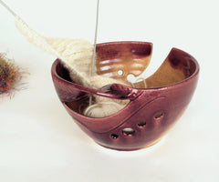 autumn gold 2 yarn bowl blueroompottery