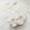 White Porcelain Feather Wing Necklace