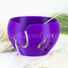 Regular Purple Yarn bowl leaf Knitting Bowl 3D printed eco friendly plastic