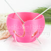 Regular Hot Pink Yarn bowl leaf Knitting Bowl 3D printed eco friendly plastic gifts