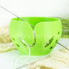 Yarn bowl Spring green leaf Regular Knitting Bowl 3D printed eco friendly plastic knitter gifts
