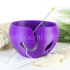 Purple Leaf Yarn bowl, Large Knitting travel crochet Bowl, 3D printed eco friendly plastic knitter gifts