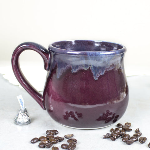 Large 22oz. Eggplant purple Coffee Mug
