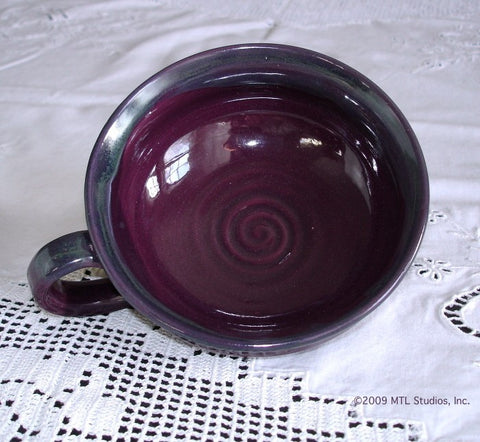 Eggplant Purple Soup Bowl, Chowder Mug, Multi use Serving Bowl