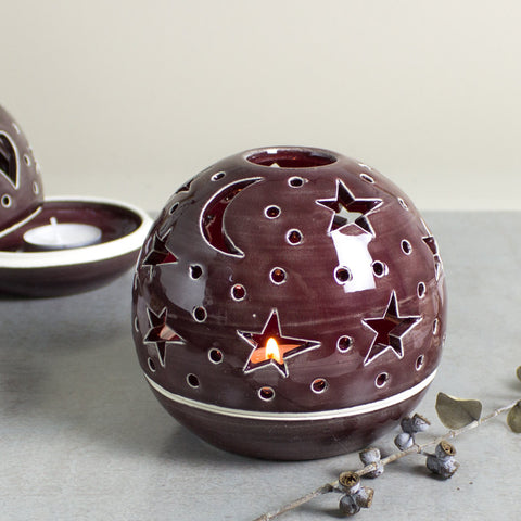 Dark Burgundy Red Star Candileria™ Holder
