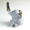 Elephant ring holder Lucky Elephant Gray Grey jewelry Ceramic Ring Holder