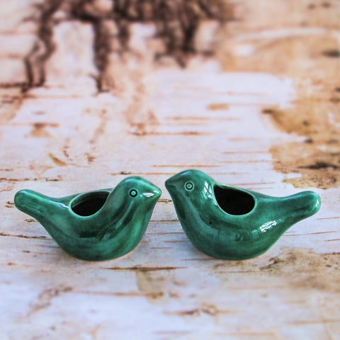 Emerald Green Love Birdies