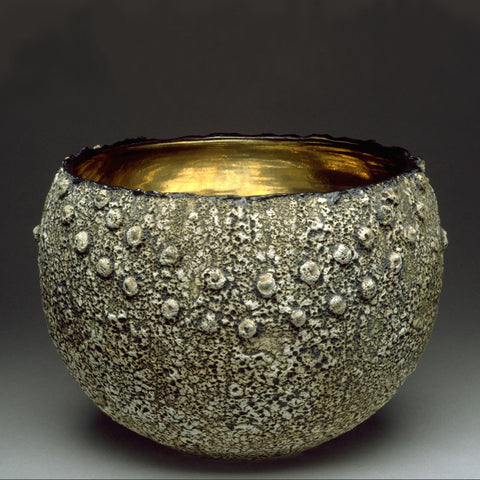 Textured Ceramic Geode Large Bowl