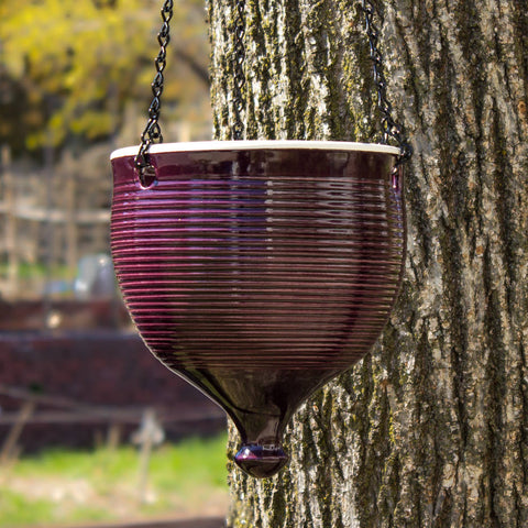 Large Hanging planter Eggplant Purple modern Urban Garden gardening Bowl