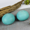 Turquoise Silky Porcelain Pebble Oil lamp