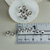 Silver Plated Mykonos Greek Ceramic beads, mini tube 6X4mm, 6 pcs