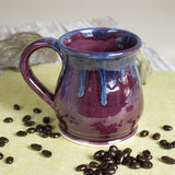 Eggplant Purple Coffee mug with beautiful drips