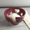 Marshala Dark Earthy Red Heart Yarn Bowl, Knitting Bowl