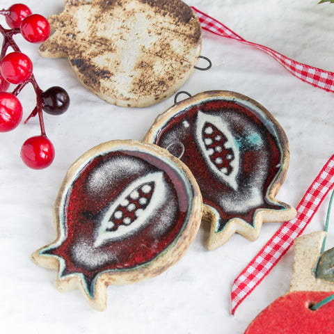 Red Pomegranate Christmas Ornament