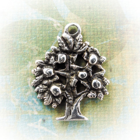 Tree Of Life Pendant, large Greek focal metal Casting Mykonos diy craft supplies (1 piece)