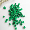 Mykonos Greek Ceramic Mini Tube Beads, 30 Xmas Green, 6X4mm