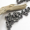Mykonos Greek Ceramic 6X4mm Mini Tube Beads, 30 Gray Ash Grey