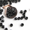 Black 10 Mykonos Greek Ceramic Mini Tube Beads, 6X4mm Beads DIY