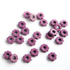 15 Mykonos Greek Ceramic Beads, Tiny Gear, Radiant Orchid Purple MB2