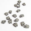 Grey Mykonos Ceramic Fish, Greek Tiny Beads (10 pack) MB16