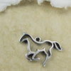 Prancing Horse Outline Pendant, Trotting Silhouette Charm, Greek metal Casting Mykonos Southwest Silver Plated craft supplies (1 piece)