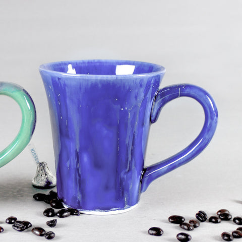 Blue Conical Coffee Mug